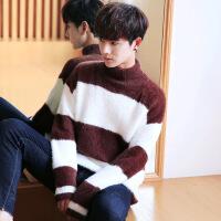 秋冬男士高领潮流毛衣半高领加厚韩版男装线衣宽松针织衫打底衫