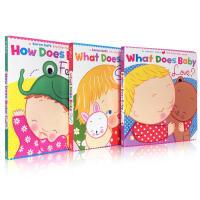 Karen Katz 英文原版纸板翻翻书 What Does Baby Love 系列3本
