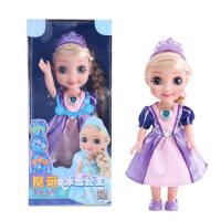挺逗芭比娃娃冰雪艾莎爱莎公主奇缘玩具女孩会说话的娃娃智能对话