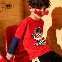 【3件2折:43.8元】小虎宝儿儿童长袖t恤男童纯棉打底衫2021春秋款中大童洋气体恤