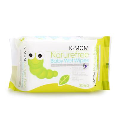韩国K-MOM 新生儿婴儿柔湿巾儿童手口专用湿巾便携组合装30抽*6包