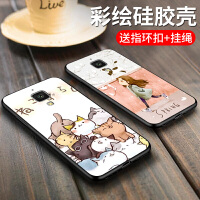 小米5x手机壳黑色硅胶软5防摔可爱男女5c保护套4c卡通创意4韩国个性潮