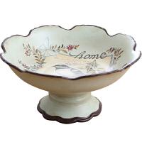 客厅茶几水果盘摆件 美式复古陶瓷家用创意果盘摆设软装饰品