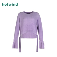 热风时尚女士抽带针织衫F08W9108