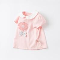 戴维贝拉女童童装2021夏装新款儿童t恤短袖纯棉洋气小童宝宝上衣