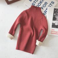 2018新款秋冬装儿童宝宝针织打底衫女童套头半高领毛衣