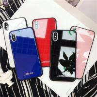 苹果x手机壳8plus套iPhone6s潮牌钢化玻璃六7p纯色新款简约男女8p