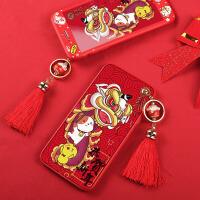 苹果6手机壳iphone6splus硅胶6s全包6sp红色女款