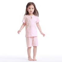【直降】英氏儿童家居服套装夏季女宝宝纯棉短袖短裤 174242