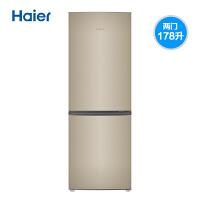 海尔(Haier)BCD-178TMPT 178升双门两门家用小冰箱 时尚炫金 节能静音 租房神器 直冷 电冰箱
