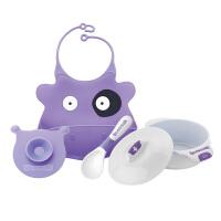 【当当自营】BABISIL贝儿欣 宝宝训练餐具天使餐具4件套-紫色
