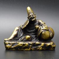 黄铜济公活佛仿古铜器铜工艺品铜家居装饰品摆件