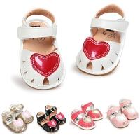 春夏萌宝白色红心婴儿凉鞋鞋软底步前鞋学步鞋