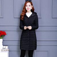 秋冬棉衣棉袄女韩版中长款修身连帽保暖轻薄羽绒外套