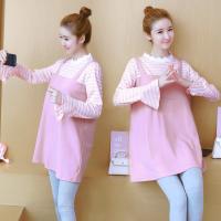 孕妇连衣裙秋装2018新款长袖上衣中长款裙子套装两件套宽松