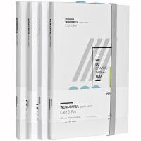 得力SZ005手账本加厚日记本子学生小清新记事本文具简约空白单本 清新日韩