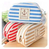 海军 风帆 布 创意 笔袋 条纹 文具袋  可爱 个性 大容量