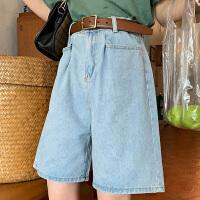 Lee Cooper新品薄款显瘦宽松阔腿五分中裤复古个性减龄牛仔裤女
