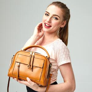 【春夏新品惠】2018新款女式拉链真皮女包女士手提包包箱包