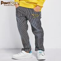 【2件3折 到手价:149】Pawinpaw卡通小熊童装男童条纹裤子中小童水洗牛仔裤潮