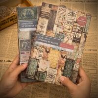 复古笔记本子手账本创意欧式彩页插画记事本手绘学生文艺厚日记本