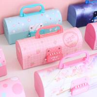 多功能铅笔盒带有密码小学生变形幼儿园文具女孩韩国新款网红初中生韩版创意可爱公主1-3-5年级儿童三层少女