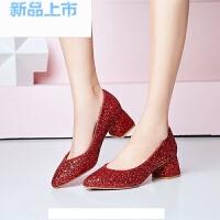 韩版女童皮鞋水晶童鞋公主小女孩高跟鞋2018小主持礼服演出鞋