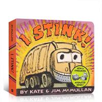 英文原版 I Stink! Board Book 垃圾车来了 儿童启蒙纸板书 养成不乱扔垃圾的良好习惯 边玩边学英文