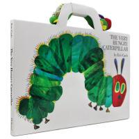 英文原版绘本 The Very Hungry Caterpillar 大开本+玩偶 好饿的毛毛虫艾瑞卡尔卡尔爷爷童书幼