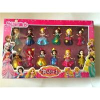 公主集合舞动公主12位公主公主玩具软胶美人鱼娃娃玩具 15厘米以下