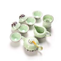 功夫茶具套装陶瓷家用青瓷创意茶杯泡茶壶办公室喝茶简约瓷器简易