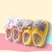儿童棉拖鞋包跟冬天男女童冬季保暖宝宝卡通可爱室内防滑居家鞋休闲鞋