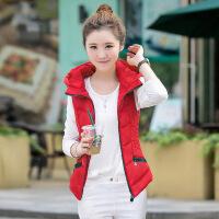 秋冬季女式羽绒棉短款马甲坎肩修身显瘦韩版棉衣马夹背心大码外套