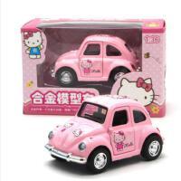 Q版声光回力车迷你小汽车惯性合金车模型警车男孩女孩玩具车