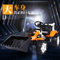 儿童挖掘机玩具车电动推土机可坐人可骑电动超大号男孩遥控工程车
