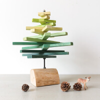 北欧木质树形书架摆件 创意家居摆设礼物办公室桌面装饰