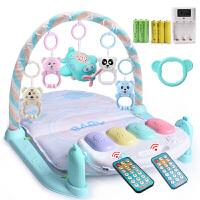 新生婴儿健身架器脚踏钢琴游戏毯宝宝0-3-6-12个月男孩玩具0-1岁