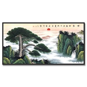 中国美术家协会会员、中国将军书画院理事 师忠彦《迎客松》
