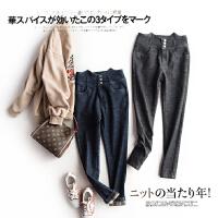 这个厂家的裤子很专业!内加绒 高腰修身小脚牛仔裤女L3/5/18