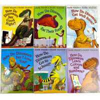 天才博士点读系列宝宝英语0-3-8岁 培养良好习惯故事书儿童英文绘本家有恐龙6册非点读版(不配笔)