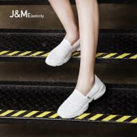 jm快乐玛丽春夏季新款时尚平底透气运动休闲鞋懒人女鞋