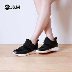 【低价秒杀】jm快乐玛丽春秋潮时尚平底休闲搭扣套脚厚底女式平底女鞋子
