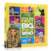 英文原版 Little Kids First Big Book of Who 国家地理系列精装大开本启蒙5-6-7-8