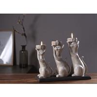 复古田园猫咪香薰蜡烛台餐厅餐桌装饰品礼物烛台摆件