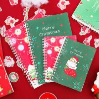 圣诞笔记本A5简约学生本子文具超厚错题线圈方格本A6记事本