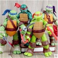 儿童玩具套装忍者神龟武器手办模型 关节可动人偶摆件公仔