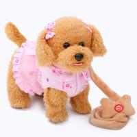 儿童电动玩具狗狗走路会唱歌会叫仿真狗充电男女孩毛绒小狗机器狗六一儿童节礼物