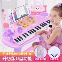 儿童电子琴女孩初学者入门可弹奏音乐玩具宝宝多功能小钢琴