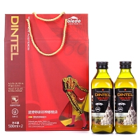 登鼎 节日特级初榨橄榄油礼盒 500mlx2 西班牙原装进口