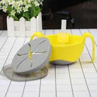 吸管碗三合一多用辅食碗 婴儿吸管碗宝宝零食碗 儿童餐具D
